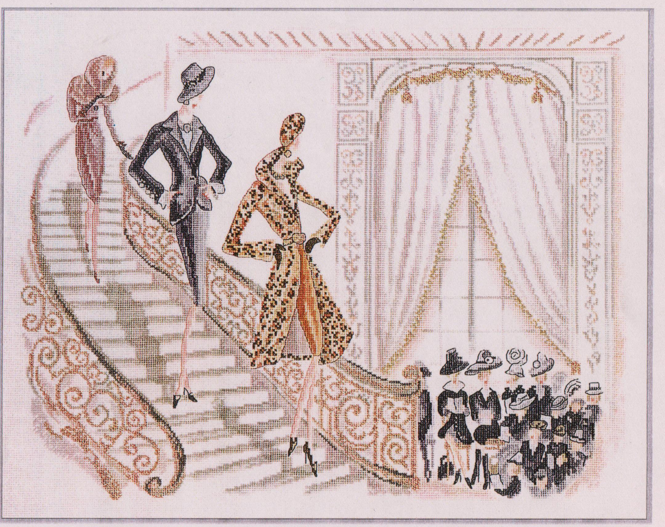 Виды вышивки ручной крестом, гладью, бисером и лентами 48